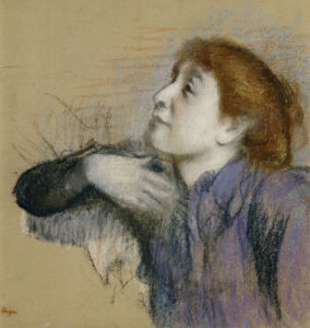 Bust Of A Woman, Circa 1880 by Edgar Degas