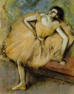 Danseuse Assise, Circa 1894 by Edgar Degas