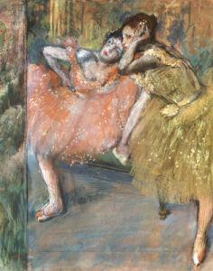 Two Dancers By A Hearth, Circa 1901 by Edgar Degas