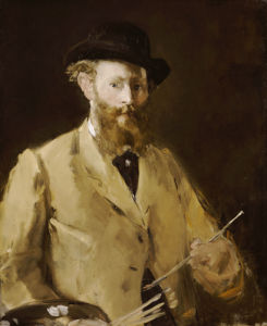Self Portrait With A Palette by Edouard Manet