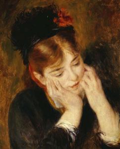 Contemplation. Reflexion, 1877 by Pierre Auguste Renoir