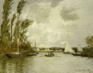 The Little Branch Of The Seine by Claude Monet