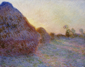 Haystacks. Meules by Claude Monet