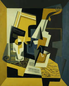 A Violin And Glass, 1918 by Juan Gris