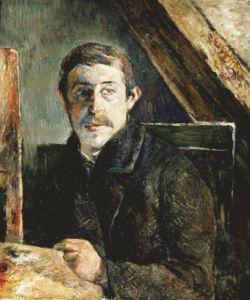 Gauguin Behind An Easel, 1884 by Paul Gauguin