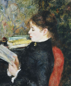 The Reader, 1877 by Pierre Auguste Renoir