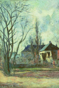 Winter Landscape At Copenhagen, 1885 by Paul Gauguin