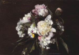 Peonies, White Carnations And Roses, 1874 by Ignace-Henri-Théodore Fantin-Latour