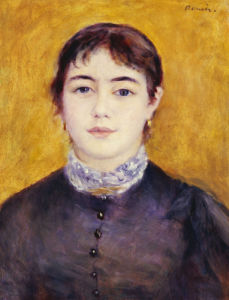 Young Woman Wearing Blue, 1879 by Pierre Auguste Renoir