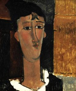 Portrait Of A Young Woman (La Concierge), Circa 1916 by Amedeo Modigliani