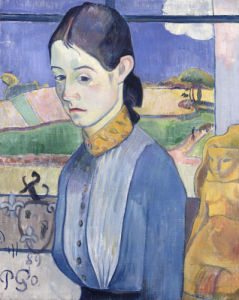 A Young Breton Woman,1889 by Paul Gauguin