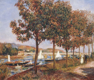The Bridge At Argenteuil by Pierre Auguste Renoir