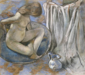 Woman In The Tub, 1884 by Edgar Degas
