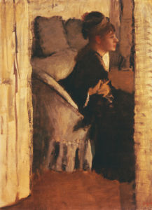 Woman Putting On Her Gloves by Edgar Degas