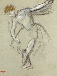 A Dancer Seen In Profile by Edgar Degas