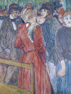 At The Moulin De La Galette, 1891 by Henri de Toulouse-Lautrec