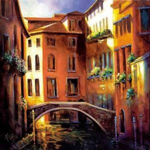 Sunset in Venice by Nancy O'Toole