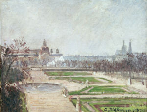 The Tuileries Gardens And The Louvre, 1900 by Camille Pissarro