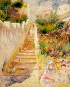 The Steps, Algiers, Circa 1882 by Pierre Auguste Renoir