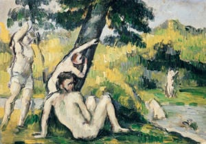 Bathing by Paul Cezanne
