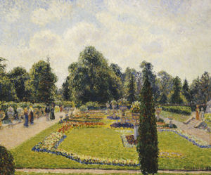 Kew Gardens, The Path To The Main Greenhouse by Camille Pissarro