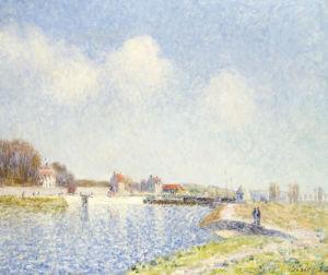 Saint-Mammes Weir, 1885 by Alfred Sisley