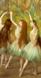 Green Dancers, 1878 by Edgar Degas