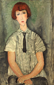 Young Girl In A Striped Shirt, 1917 by Amedeo Modigliani