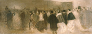 La Sortie Du Theatre by Eugene Carriere