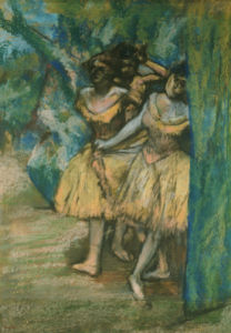 Three Dancers, With A Backdrop Of Trees And Rocks, 1904 by Edgar Degas
