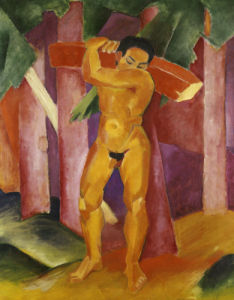 The Tree Porter, 1911 by Franz Marc
