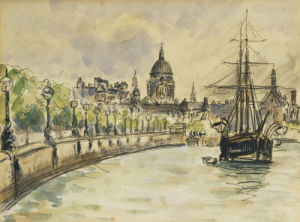 London, St.Paul's Cathedral, 1890 by Camille Pissarro