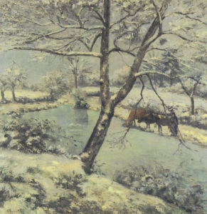 Winter At Montfoucault With Snow, 1875 by Camille Pissarro