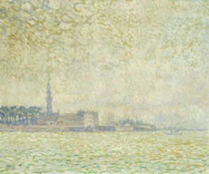 A View Of Veere, Misty Morning, 1906 by Theodore van Rysselberghe