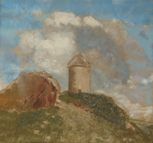 Le Moulin A Vent, Circa 1880 by Odilon Redon