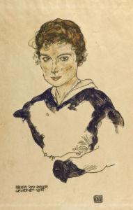 Portrait Fraulein Toni Rieger by Egon Schiele