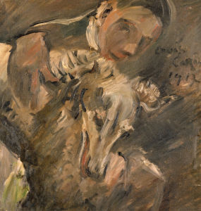 Max Mainzer With A Siberian Greyhound, 1917 by Lovis Corinth