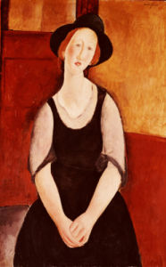 Portrait Of Thora Klinckowstrom by Amedeo Modigliani