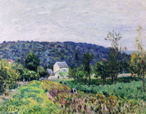 Hills Surrounding Paris, 1879 by Alfred Sisley