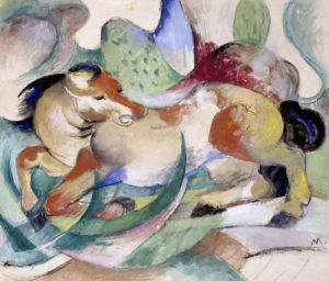 Jumping Horse. Springendes Pferd, 1913 by Franz Marc