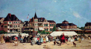 Casino De Trouville by Eugene Louis Boudin