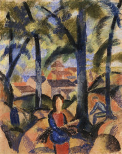 Women Collecting Brushwood, 1914 by August Macke