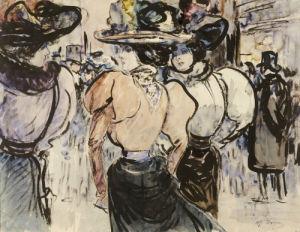Elegantes Dans La Rue by Henry Somm