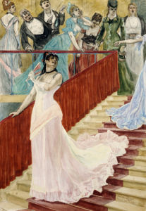 The Row. L'Attrapade, 1877 by Felicien Rops
