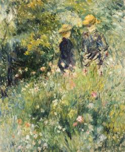 Conversation Dans Une Roseraie, 1876 by Pierre Auguste Renoir