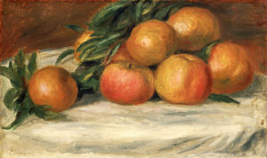 Still Life With Apples And Oranges, Circa 1901 by Pierre Auguste Renoir