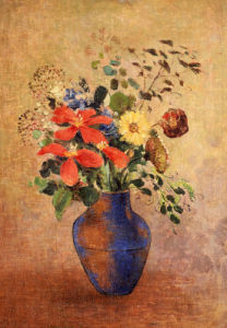 The Blue Vase by Odilon Redon