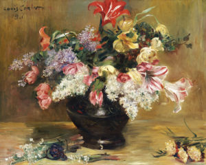 Amaryllis, Lilac And Tulips, 1911 by Lovis Corinth
