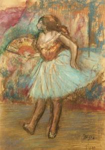 Dancer With A Fan, Circa 1895 by Edgar Degas