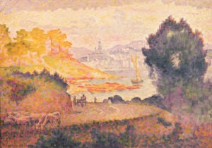 A View Of Menton, 1899 by Henri-Edmond Cross